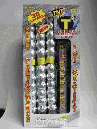 Front of Package of Recalled Fireworks