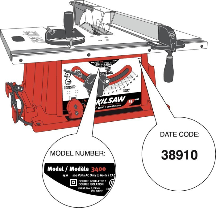 Picture of Recalled Table Saw