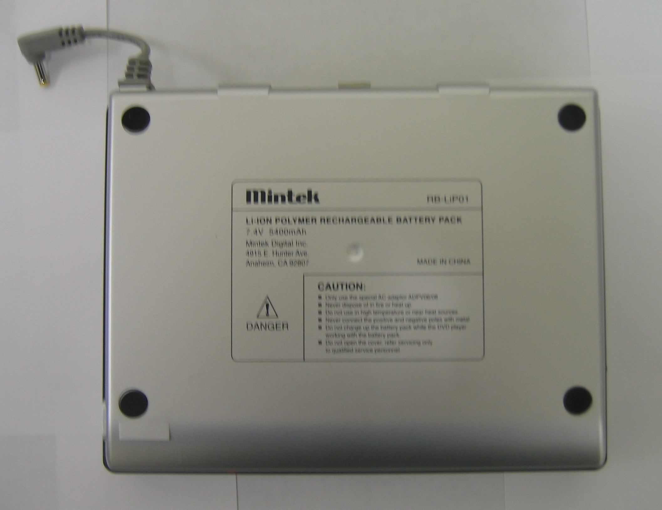Picture of Recalled Battery Pack